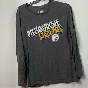 Pittsburgh Steelers top long sleeve gray womens XL